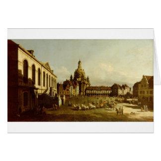 Das Neuer Marktplatz in Dresden Bernardo Bellotto Karte