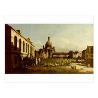 Das Neuer Marktplatz in Dresden Bernardo Bellotto Postkarte