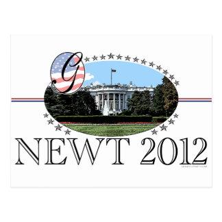 Das Newt- Weiße Haus 2012 Postkarte