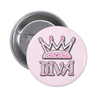 Das niedliche gedruckte Rosa perlt Diva-Prinzessin Runder Button 5,7 Cm