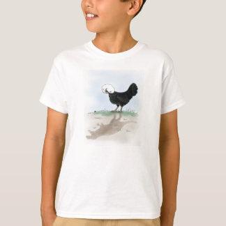 Das niedliche polnische Huhn, das eine kleine T-Shirt