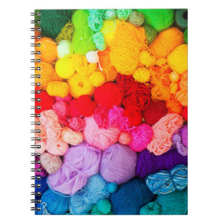 Das Notizbuch des Garn-Liebhabers Spiral Notizblock