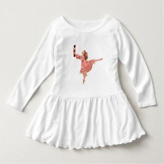 Das Nussknacker-Ballett-Kleinkind-Rüsche-Kleid Kleid
