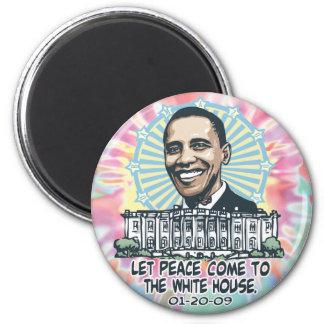 Das Obama-Friedens Haus-Einweihungs-Gang 1-20-09 Runder Magnet 5,1 Cm