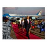 Das Obamas Postkarte