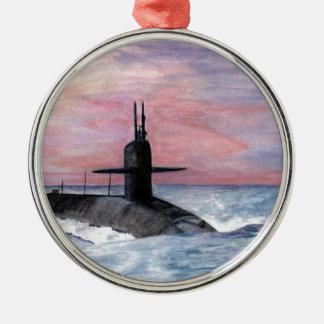Das Ohio-Klassen-Unterseeboot Silbernes Ornament