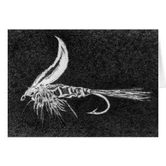 Das Ohr klassisches des Forelle-Fliegen-Karte Karte