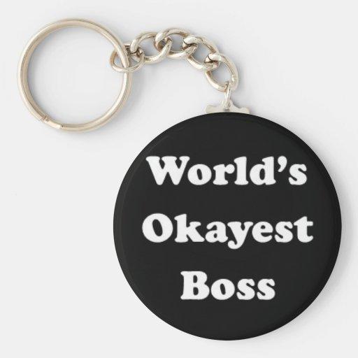 Das Okayest der Welt Chef-humorvolles Schlüsselbänder