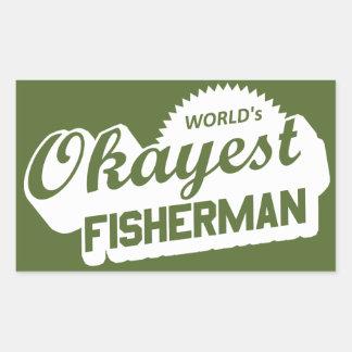 Das Okayest der Welt Fischer Rechteckiger Aufkleber