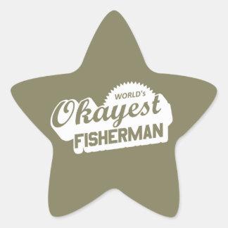 Das Okayest der Welt Fischer Stern-Aufkleber