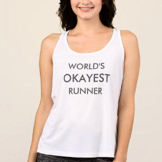 Das Okayest der Welt Läufer-Fitness-Behälter Tank Top