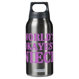 Das Okayest der Welt Nichte Isolierte Flasche