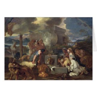 Das Opfer von Noah, c.1640 Karte
