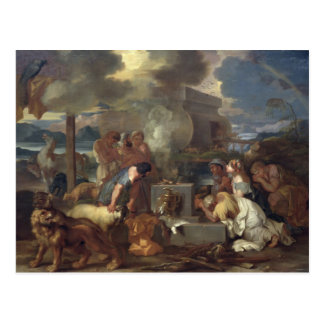 Das Opfer von Noah, c.1640 Postkarte
