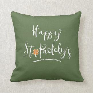 Das orange Kleeblatt ID336 glücklichen St.-Paddys Kissen