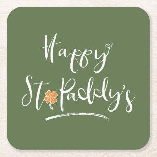 Das orange Kleeblatt ID336 glücklichen St.-Paddys Rechteckiger Pappuntersetzer