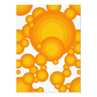 Das orange Siebzigerjahre Jahranreden Karte