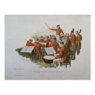 Das Orchester Johann Strauss an einem Postkarte