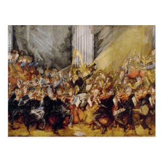 Das Orchester Postkarte