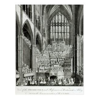 Das Orchester und die Ausführenden in Westminster Postkarte