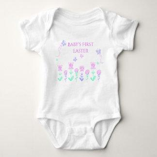 Das Ostern-Frühlings-Garten-Bodysuit des Babys Baby Strampler