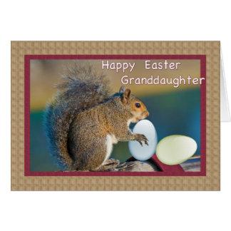 Das Ostern-Karte der Enkelin mit Eichhörnchen Karte
