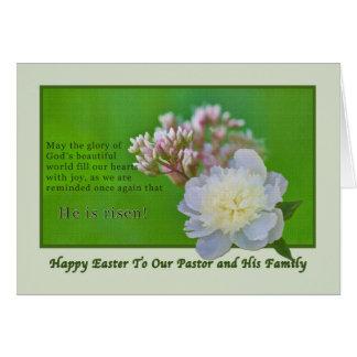Das Ostern-Karte des Pastors mit Blumen Karte
