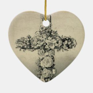 Das Ostern-Kreuz durch Ives 1869 Keramik Herz-Ornament