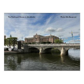 Das Parlament bringen in Stockholm… unter Postkarte