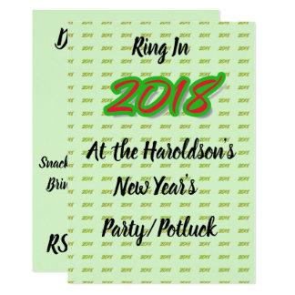 Das Party 2018 neuen Jahres/Potluck Einladung Karte