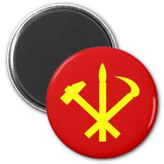 Das Party der koreanischen Arbeitskräfte - Runder Magnet 5,7 Cm