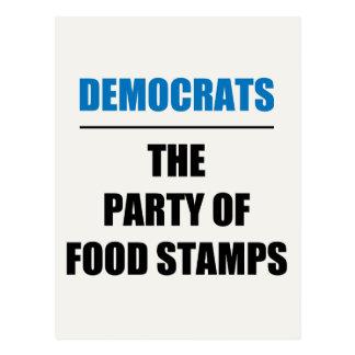 Das Party der NahrungsmittelBriefmarken Postkarte