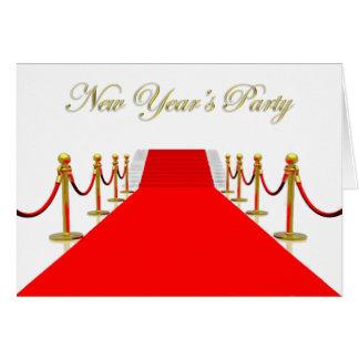 Das Party des roter Teppich-neuen Jahres Karte