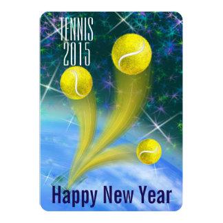 Das Party des Tennis-Sieg-neuen Jahres 12,7 X 17,8 Cm Einladungskarte