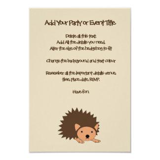 Das Party-oder das Baby-Dusche der Igels-Kinder 8,9 X 12,7 Cm Einladungskarte