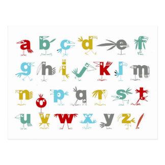 Das Pelikan-Alphabet Postkarte