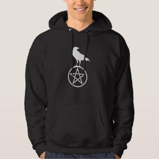 Das Pentagramm und der Rabe Hoodie