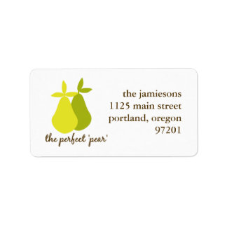 Das perfekte Birnen-Adressen-Etikett Adressaufkleber