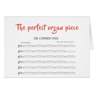 Das perfekte Organstück Karte