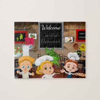 Das personalisierte Restaurant des Kindes Puzzle