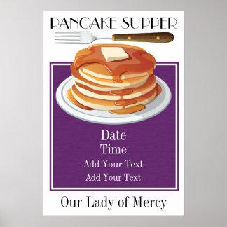 Das Pfannkuchen-Abendessen - fettes Tues - sprach Poster