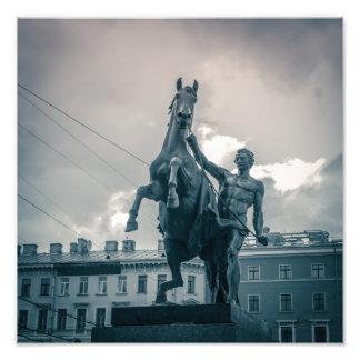 """""""Das Pferd Tamers"""", St Petersburg, Russland Fotodruck"""
