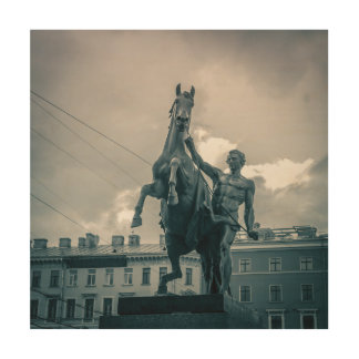 """Das Pferd Tamers"", St Petersburg, Russland Holzdruck"