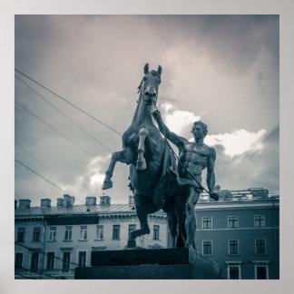 """Das Pferd Tamers"", St Petersburg, Russland Poster"