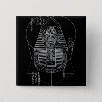 Das Pharao Quadratischer Button 5,1 Cm