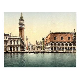 Das Piazzetta, Klassiker Photochrom Venedigs, Postkarte