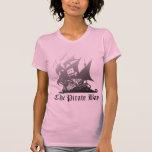 Das Piraten-Bucht-Grau zum Schwarzen T Shirts