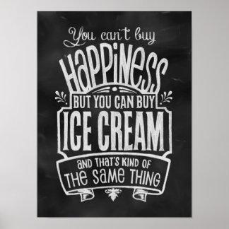 Das Plakat des Eiscreme-Liebhabers