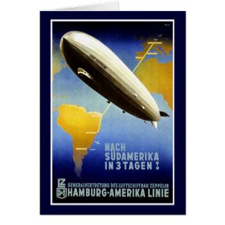Das Plakat Graf-Zeppelin Line Vintage Travel Karte