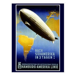 Das Plakat Graf-Zeppelin Line Vintage Travel Postkarte